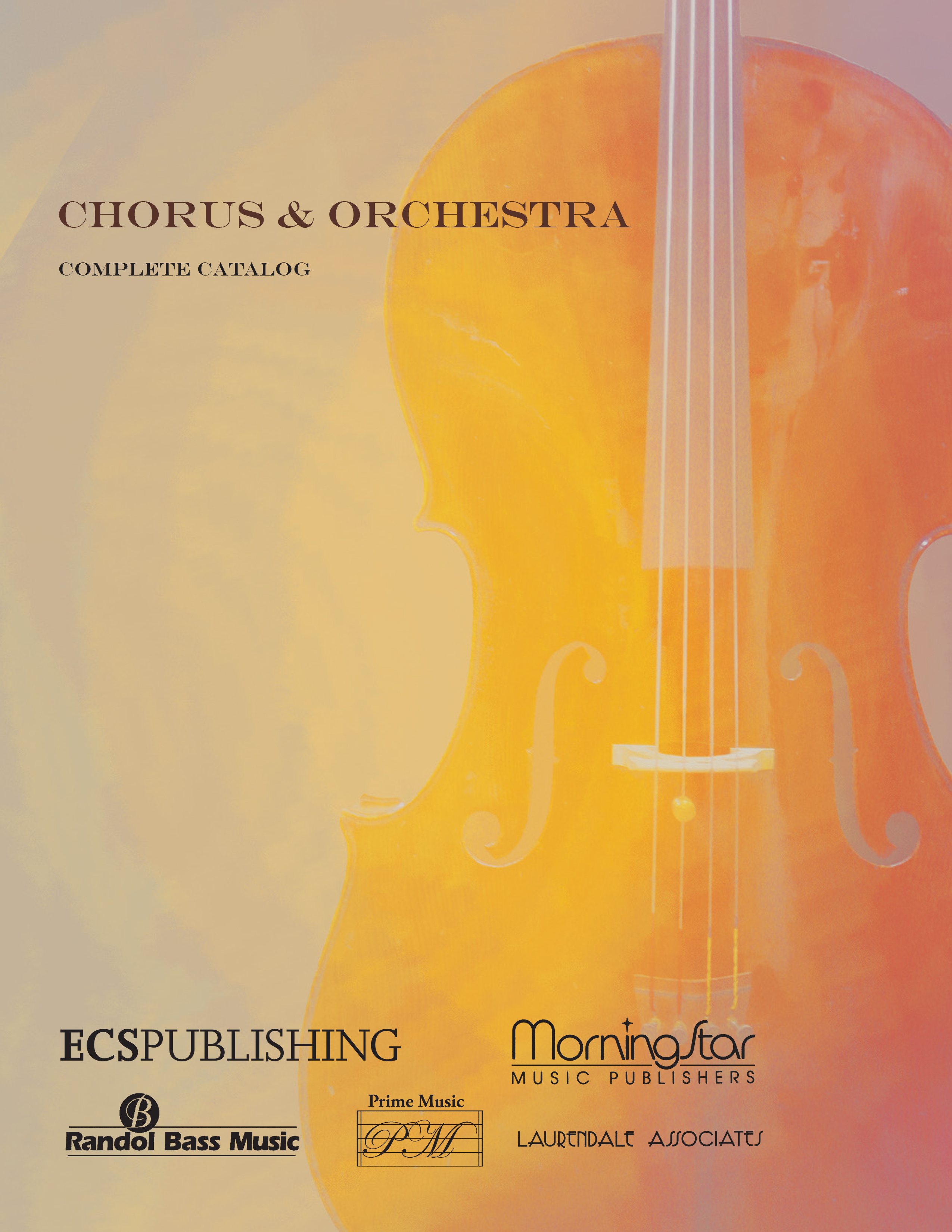 Canticle Distributing Chorus with Orchestra Catalog